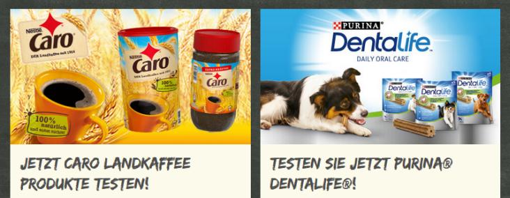 Nestlé Produkte testen