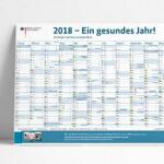 Jahreskalender 2018 gratis