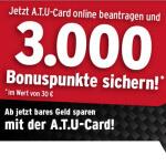 ATU Karte mit Bonuspunkte