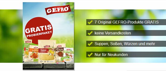 gratis Gefro Lebensmittel