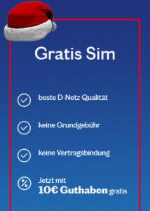 SIM Karte mit Startguthaben