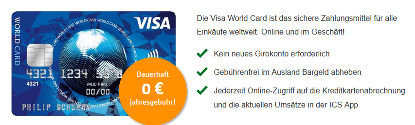 gratis Visa Card bestellen