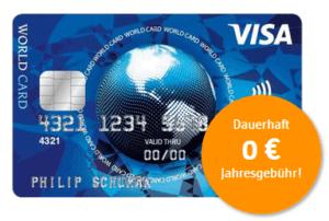 gratis Visa Karte anfordern